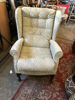 Parker knoll Style Grey Upholstered chair