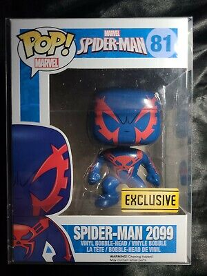 Funko Pop SPIDERMAN 2099 #81 Exclusive Mint Box In Pop Protector!