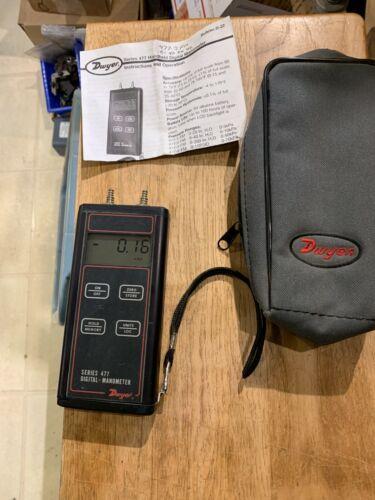 Dwyer Series 477-2-FM  Digital Manometer - Range 0-40.0 in w.c., Max P 11PSI