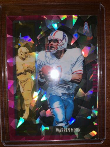2019 Panini Legacy Warren Moon Legends  Diamond Prizm 08/10 Oilers