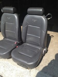 Mustang front leather seats