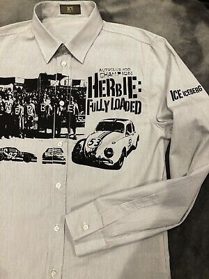 Men's Iceberg Shirt L - Herbie (Disney) New No Tags Never Worn! Made In Italy