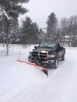 Snow plowing. Roof shoveling