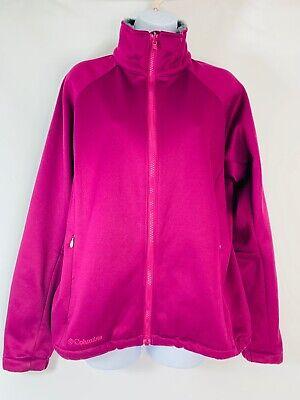 Columbia Women's size Large Purple Faux Fur Collar Full Zipper Jacket (Purple Fur Jacket)