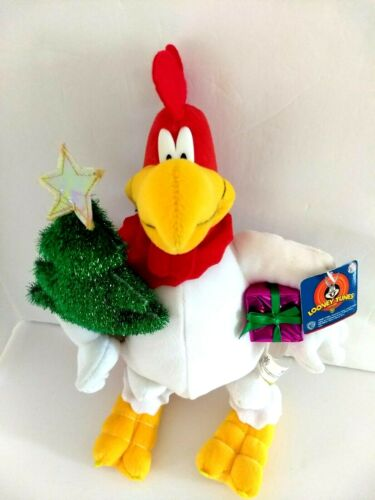 "Looney Tunes Foghorn Rooster 13"" Christmas Plush with Tag 2002"