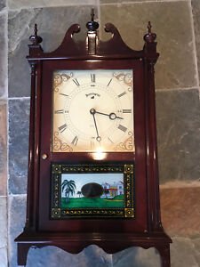 Vintage Antique Style Kensington Quartz Wall Clock in Wood Case
