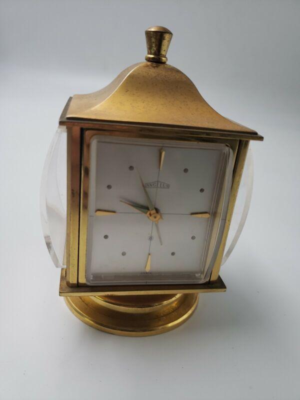 ANGELUS Swiss Dedication Table Clock 8 DAY Movement Alarm & Weather Station N4