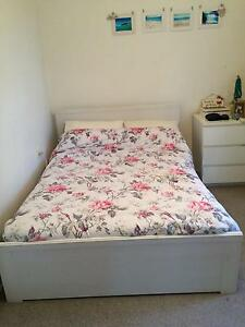 Ikea Whitw Brusali Double Bed with Mattress - Like New Woollahra Eastern Suburbs Preview