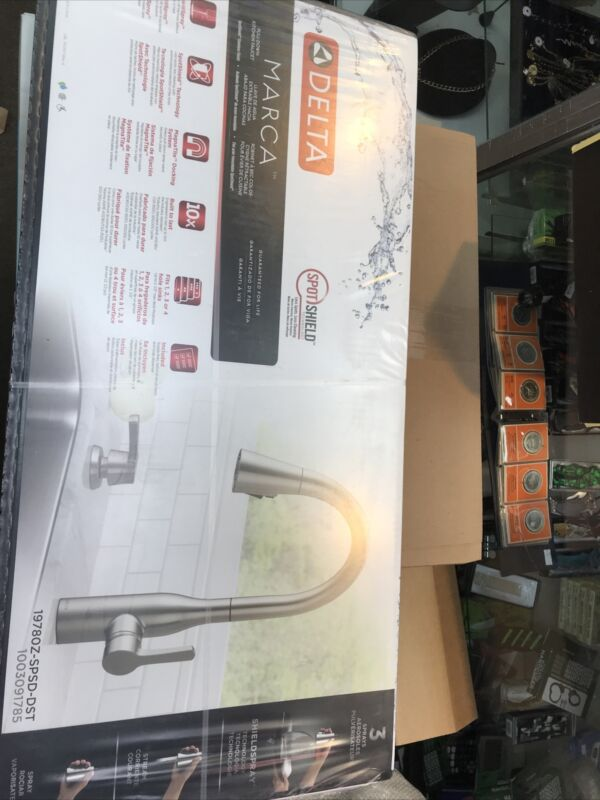 Delta Marca 19780Z-SPSD-DST 1-Handle PullDown Kitchen Faucet In Stainless