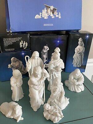 9pc Vintage Avon Nativity Collectibles Porcelain Set w/ Boxes, Stable
