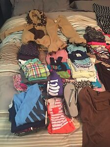 Assorted women's and kids clothes