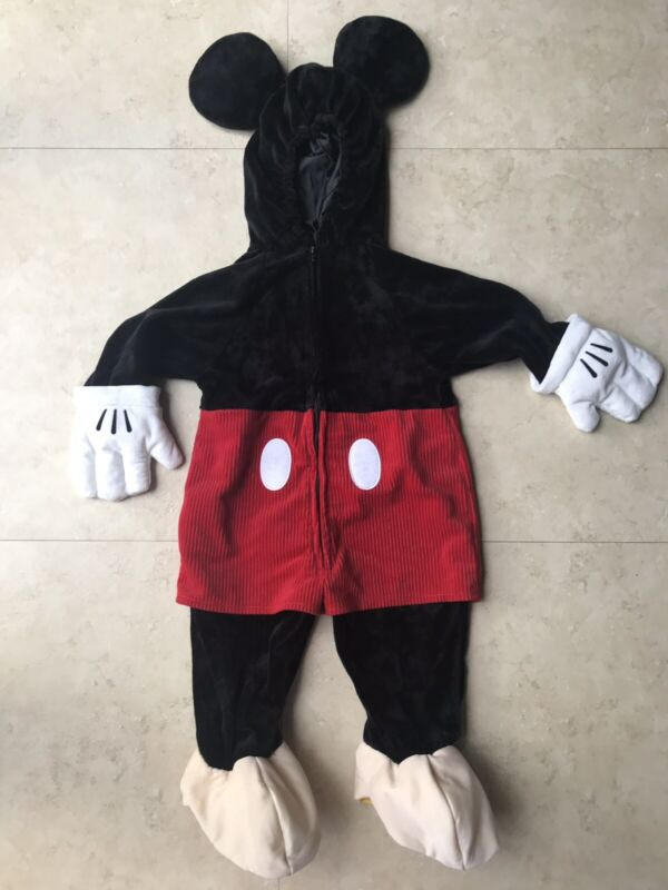 VINTAGE Disney Store Mickey Mouse Plush Halloween Costume Child Toddler 18months