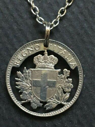 Italy Cut Coin Pendant Italian