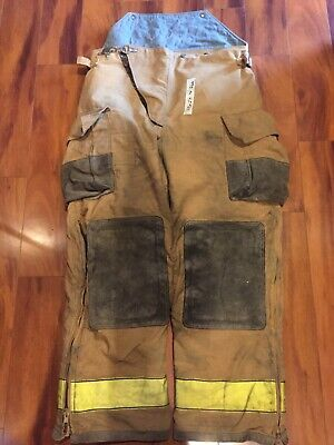 Firefighter Turnout Bunker Pants Globe 42x32 1999 Zippered Legs Costume