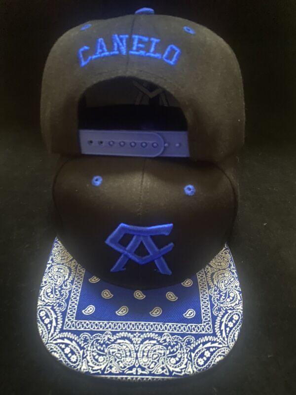 Canelo Alvarez Hat Bandana blue brim BOXING CHAMPION SNAPBack Black Rare