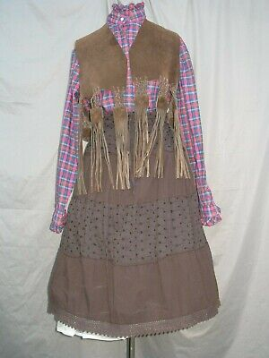 Western Dress Cowgirl Costume Victorian Old West Annie Oakley 1800s (Annie Oakley Dress)