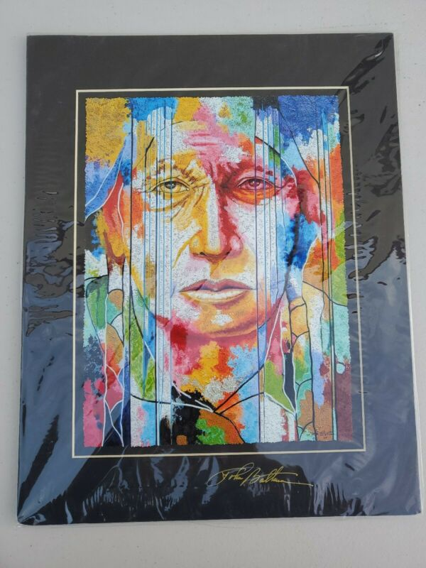 Lines To A Story II Signed Matted Lithograph by John Balloue RARE