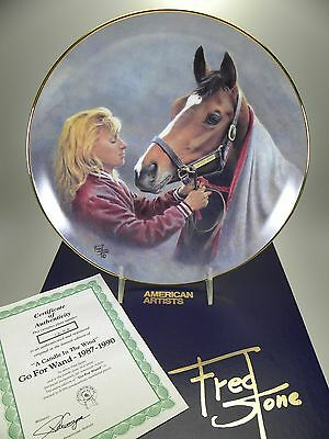 """Fred Stone A Candle In The Wind Horse Collector Plate (#1898) 10"""" Box & Cert"""