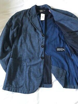 NWT RRL Ralph Lauren Cotton Sportcoat Denim Jean Blazer Jacket Blue XL $690