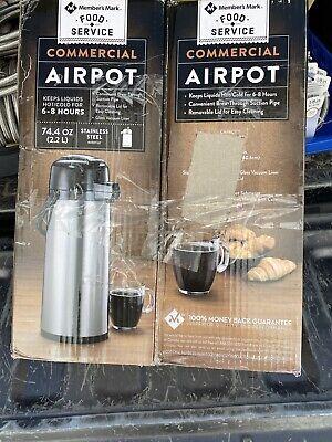 2.2 Liter Airpot Hot Coffee Server Carafe Beverage Dispenser Stainless Steel