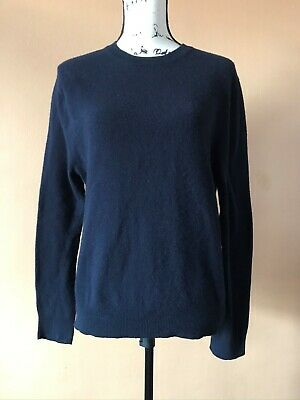 Acne Studios Blue 100% Wool Chet Solid Crewneck Pullover Sweater Size Medium