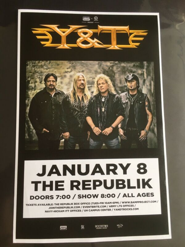 Y&T ORIGINAL HAWAII CONCERT POSTER