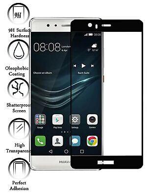 Protector de Pantalla Cristal Templado Curvo 3D Completo para Huawei P9 Negro