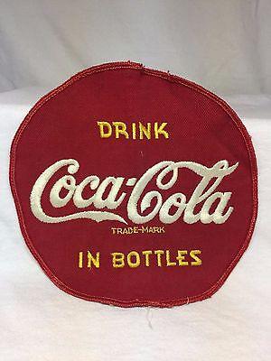 "Rare Nice Large Vintage 7"" Embroidered Drink Coca Cola In Bottles Jacket Patch"