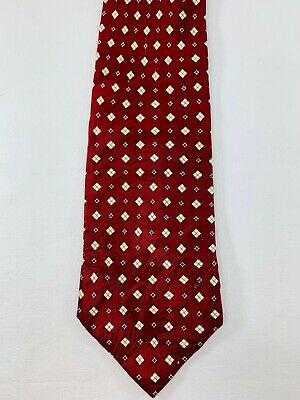 Shifa Men's Diamond Patterned Silk Tie Diamond Patterned Silk Tie