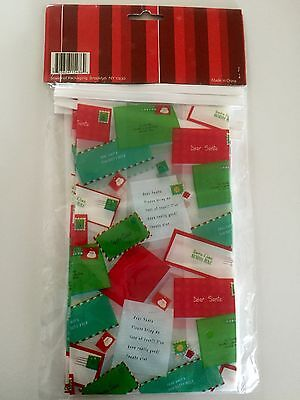 Frosted Christmas Holiday Bakery Cookie Treats Bags Wire Closure 5