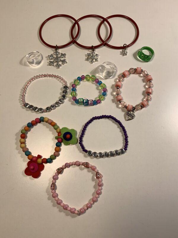 Girls Bracelet And Ring Lot Best Friends Kid