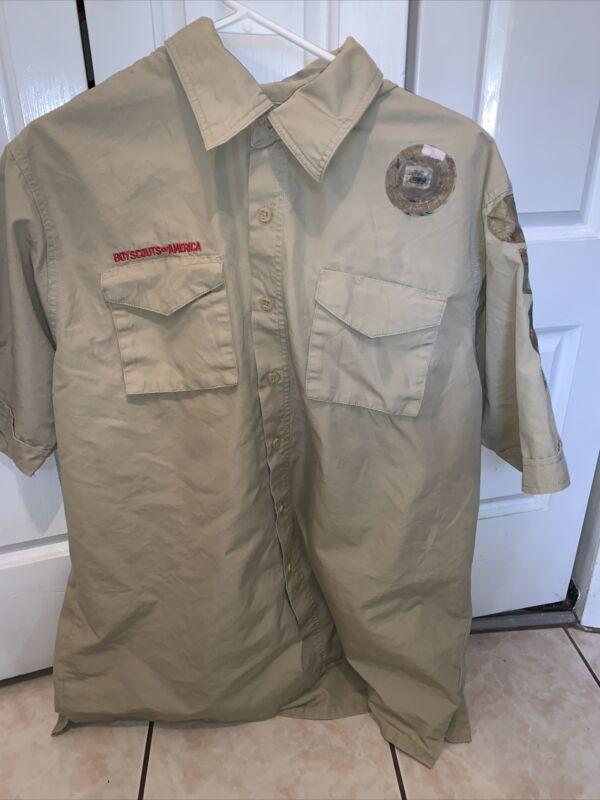 Boy Scout BSA UNIFORM New Style SHIRT Adult Large  Short Sleeve K59