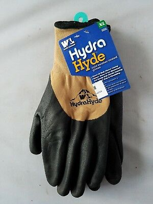 Nwt Wells Lamont Hydra Hyde Cold Weather Coated Gloves Water Resistant Fleece M