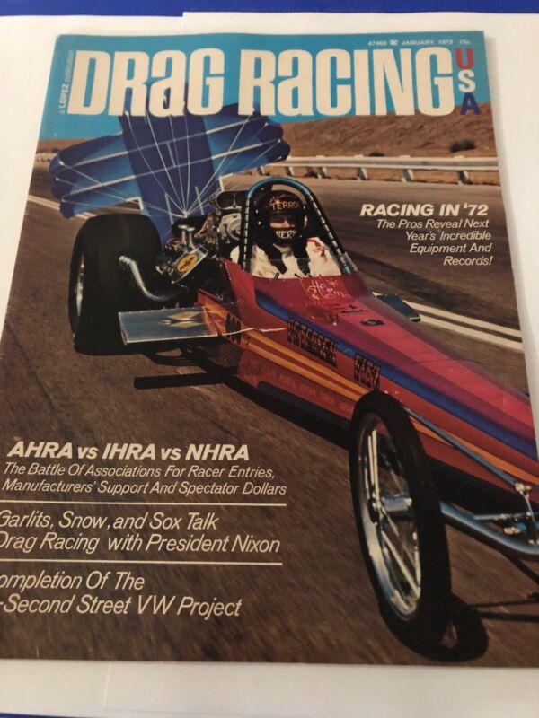 January 1972 Drag Racing Magazine