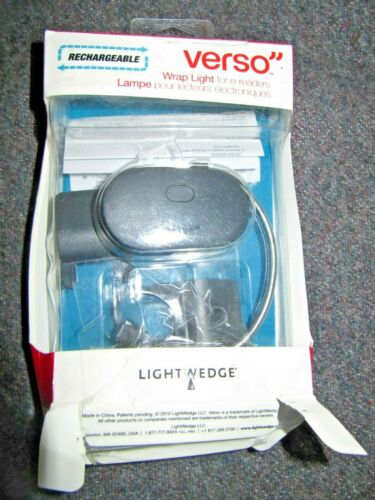 NEW Lightwedge Verso Rechargeable Wrap Light For E-Readers