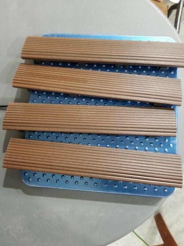 1/6 ft. x 1 ft. Quick Deck Composite Deck Tile Straight Fascia 4 pieces Redwood