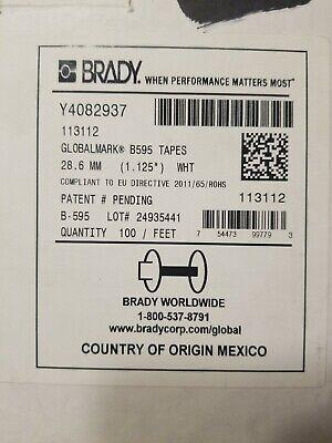 Brady 1.125 White Vinyl Label B595 Globalmark Tape 113112 Cartridge-new Openbox