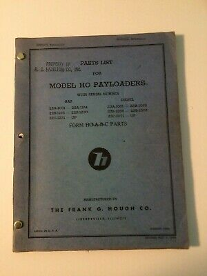 Ih Hough Ho Front-end Wheel Pay Loader Tractor Parts Catalog Manual List 2223bc