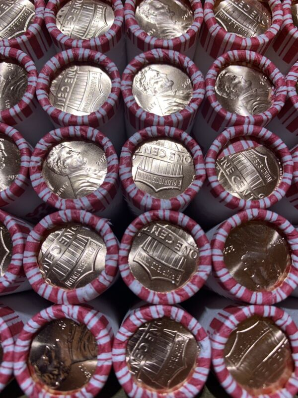 2 Rolls of 2020 P Uncirculated Penny LOW MINTAGE YEAR!!