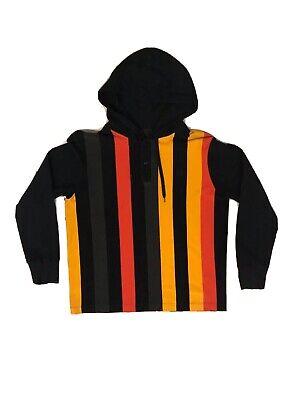 HUF Worldwide Hoodie Black Red Yellow Greeen Stripe Unisex size M RN114910