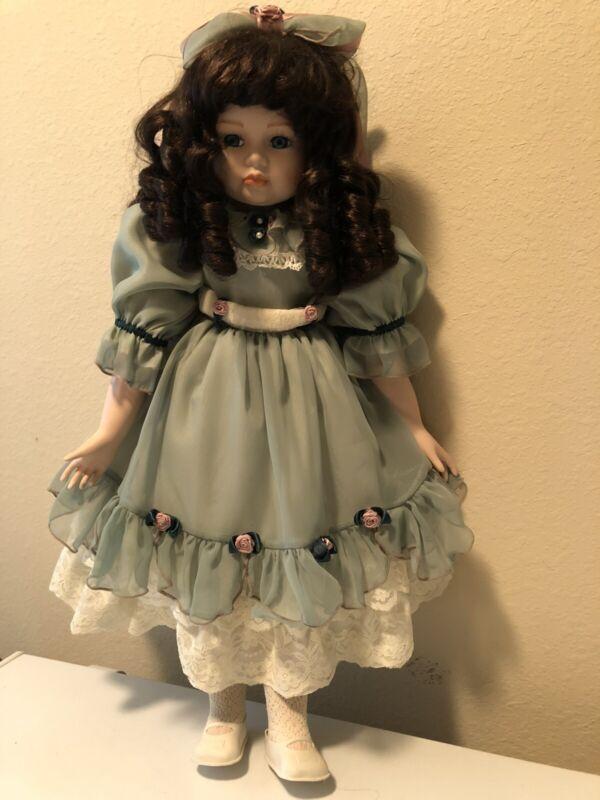 """Vintage Victorian Porcelain Doll 24"""""""