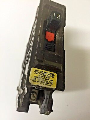 Wadsworth Circuit Breaker 15amp Single Pole Type A Plastic Tab 120240vac