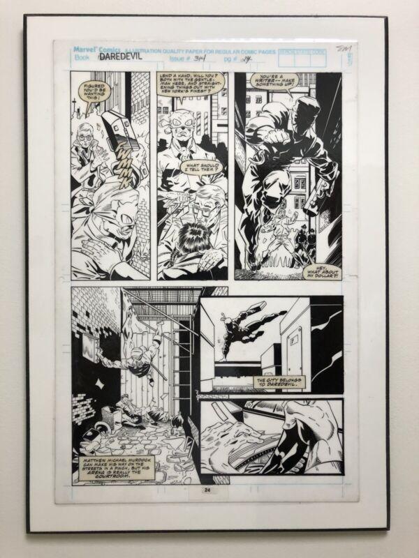 DAREDEVIL  #314 (Vol. 1 - 1964 Series) ORIGINAL ART BY SCOTT MC DANIEL LAMINATED