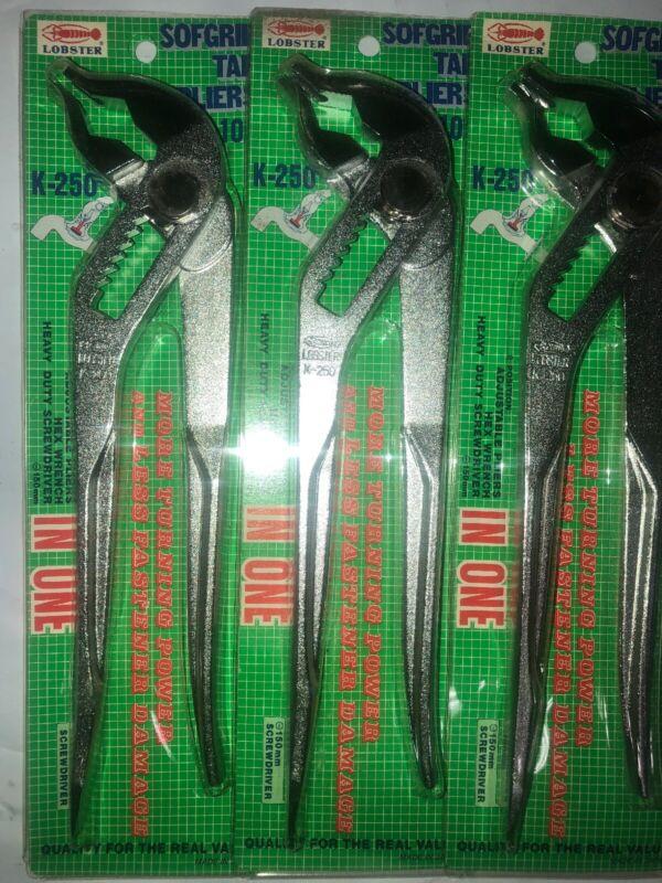 "3 PCS 10"" WATER PUMP PLIERS LOBSTER (250mm) / K250 / MADE IN JAPAN NEW"