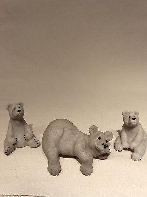Second Nature Design QUARRY CRITTERS Barbie Bam Bam Boo 3 BEARS Shelf Sitter