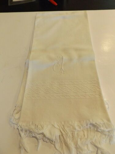Antique French Towel with J Monogram