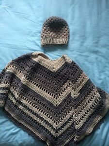 Crocheted ponchos