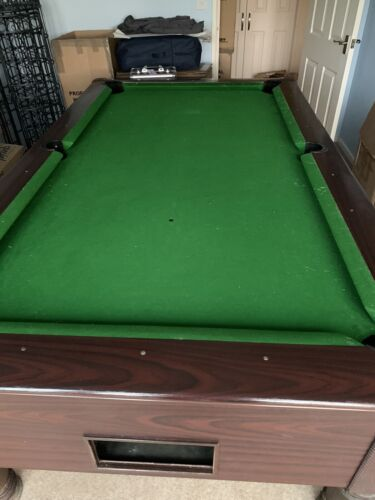 slate bed 7ft British pub style Pool Table, needs re-clothing. Working Order