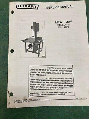 Hobart Service Manual 6801 Meat Saw