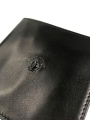 GIANNI VERSACE VINTAGE '90 MEDUSA EMBOSSED LEATHER WALLET BIFOLD PURSE ITALY